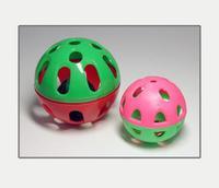 Мяч-погремушка, дырчатый с бубенчиком